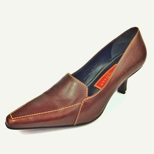 Cole Haan Pointed Toe Brown Leather Pumps size 6 B